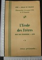 DH. 99.  Programme Et Publicité à La Salle Du Palace à Ath En 1954 - Programma's