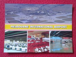 ANTIGUA TARJETA POSTAL CARTE POSTALE POST CARD POSTCARD AUSTRALIA MELBOURNE TULLAMARINE AIRPORT PLANE AIRPLANE AIR VER F - Aeródromos