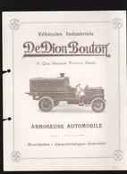 Automobile - De Dion Bouton - Arroseuses Villes Du Havre, Puteaux, Trouville, Saïgon - Advertising