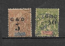 Colonie Guadeloupe Timbres De 1903  N°45 + 48  Oblitérés - Guadeloupe (1884-1947)
