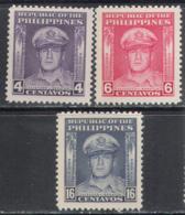 3157 War WWII WW2 General MacArthur 1957 Philippines 3v Set MNH ** - WW2