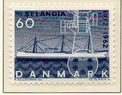 """PIA - DANIMARCA -1962 : Cinquantenario Del Battello A Vapore """"Selandia""""   - (Yv 413a) - Marittimi"""