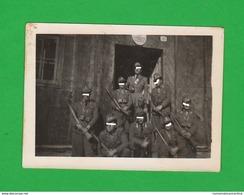Regia Guardia Di Finanza Caserma Foto Di Gruppo Con Cane Mascotte - Guerre, Militaire