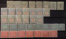 Luxemburg   Strafport / Tax   Nr. 1 - 7 /  8 - 9 / 10 - 22 Scharnier *  + Nr.  23 - 36  Postfris **  CW 51,50 - Taxes