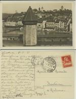 LUZERN -LAPELLBRUCKE UND WASSERTURM - LU Lucerne