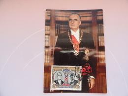 CARTE MAXIMUM CARD PRESIDENT GEORGES POMPIDOU HAUT-VOLTA - Celebrità