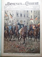 La Domenica Del Corriere 2 Gennaio 1910 Re Belgio Università Messina Cook Ostuni - Books, Magazines, Comics