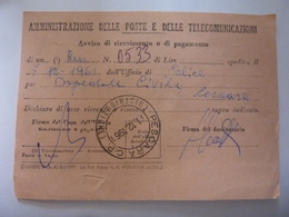 """Cartolina  Viaggiata """"AVVISO DI RICEVIMENTO - Comune Di Elice, Ospedale Civile Di Pescara """" 1961 - 6. 1946-.. Repubblica"""