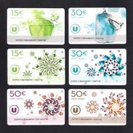 6 Carte Cadeau SUPER U   BEAUMONT SUR SARTHE (72).   Gift Card. Geschenkkarte - Cartes Cadeaux