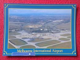 ANTIGUA TARJETA POSTAL CARTE POSTALE POST CARD POSTCARD AUSTRALIA MELBOURNE TULLAMARINE INTERNATIONAL AIRPORT PLANE..VER - Aeródromos