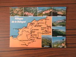 Contour Géographique Des Villages De La Balagne     Corse      Calvi    St Antonino Costa  Ect... - Maps