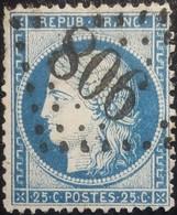 FRANCE Y&T N°60A Cérès 25c Bleu. Oblitéré Losange GC. N°806 - 1871-1875 Ceres