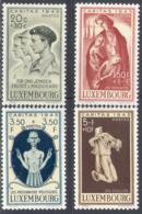 3168 War WWII WW2 Resistance Caritas 1945 Luxembourg 4v Set MNH - WW2