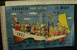 """DH. 83. Feuillet Publicitaire """"vacances Pour Tous En Belgique"""" De 1957. - Documents Historiques"""
