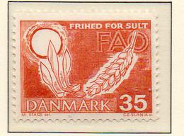 PIA - DANIMARCA -1963 : Campagna Mondiale Contro La Fame   - (Yv 417a) - Danimarca