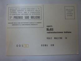 """Cartolina Postale """"LOTTERIA ITALIA 1985"""" - 6. 1946-.. Repubblica"""