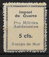 ARENYS DE MAR (BARCELONA). EDIFIL NUM. 4*. - Emisiones Nacionalistas