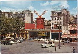 Paris: AUTOBUS/COACH, CITROËN 2CV, AZU, FIAT 1800, SIMCA ARONDE, ARIANE, PANHARD PL17, PEUGEOT 403 - Le Moulin Rouge - Toerisme