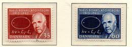 PIA - DANIMARCA -1963 : 50° Della Teoria Di Niels  Bohrs   - (Yv 429a-30a) - Danimarca