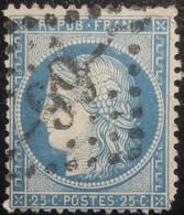 FRANCE Y&T N°60A Cérès 25c Bleu. Oblitéré Losange GC. N°99 - 1871-1875 Ceres