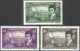 3196 Science GeoPhysik Physic Astronomy Caldas 1958 Colombia 3v Set MNH ** - Physics