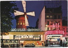 Paris La Nuit: RENAULT 4, 16, AUTOBUS/COACH - 'New York Black-Out' MOVIE NEON  - Le Moulin Rouge - Toerisme