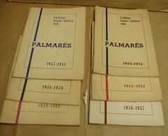 DH. 61. Six Palmarès Du Collège Saint Julien à Ath. De 1953 à 1960 - Diplômes & Bulletins Scolaires