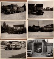 Lot De 9 Photos Originales Entreprise De Transport Et Camions De Kurt Uhlemann Mobelspedition Kohlen - Laderund 1950/60 - Automobiles