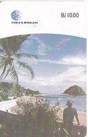 TARJETA DE PANAMA DE CABLE & WIRELESS DE B/10.00 ISLA DE TABOGA (CHIP DETRÁS) - Panamá