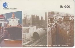 TARJETA DE PANAMA DE CABLE & WIRELESS DE B/10.00 DEL CANAL DE PANAMA (BARCO-SHIP) - Panama
