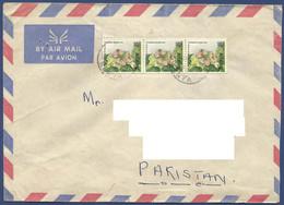 KENYA 1986 POSTAL USED AIRMAIL COVER TO PAKISTAN - Kenya (1963-...)