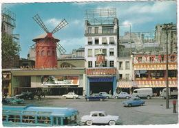 Paris: SIMCA ARONDE, MONACO, RENAULT DAUPHINE, GOELETTE, PLATEAU, PEUGEOT 403, AUTOBUS/COACH - Le Moulin Rouge - Toerisme