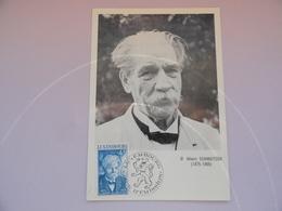 CARTE MAXIMUM CARD  ALBERT SCHWEITZER LUXEMBOURG - Albert Schweitzer