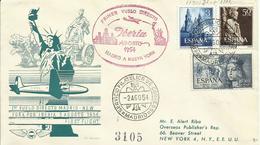 ESPAÑA, SOBRE PRIMER VUELO DIRECTO MADRID/NEW  YORK - 1931-Hoy: 2ª República - ... Juan Carlos I