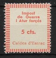 CALDES D'ESTRAC (BARCELONA). EDIFIL NUM. 1* - Emisiones Nacionalistas