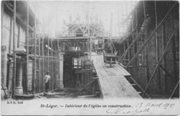Saint Leger Intérieur De L'église En Construction DVD 9159 13 Août 1903 Carte Assez Rare - Saint-Léger