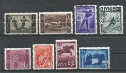 RUMANIA YVERT  515/22   MNH  **, EXCEPTO  515   MH  * - Aéreo
