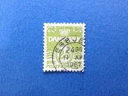 DANIMARCA DANMARK 25 Ore ORDINARIO FRANCOBOLLO USATO STAMP USED - Danimarca