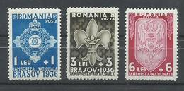 RUMANIA YVERT  505/7   MNH  ** - Poste Aérienne