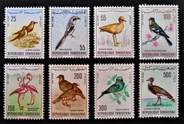 OISEAUX 1965/66 - NEUFS ** - YT PA 26/33 - Tunisie (1956-...)