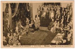 Brussel, Bruxelles, L'Avenement Du Roi Léopold III, Plechtige Intrede Van Leopold III (pk52947) - Fêtes, événements