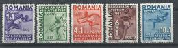 RUMANIA YVERT  525/29   MH * - Aéreo