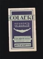 Automobile - Ressorts Colaert à Steenbecque - Tarif 1929  Delahaye, Hotchkiss, Mathis, Latil, Packard, Rosengart,salmson - Publicité