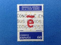 1995 SPAGNA ESPANA PRESIDENZA EUROPEA 60 FRANCOBOLLO USATO STAMP USED - 1931-Oggi: 2. Rep. - ... Juan Carlos I