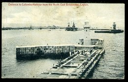 WD313 CEYLON - ENTRANCE TO COLOMBO HARBOUR FROM THE NORTH EAST BREAKWATER - Sri Lanka (Ceylon)