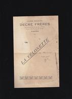 """Jouet - Patinette """"La Vélonette """" Magasins Decré Nantes - Circa1920 - Mauvais état - Publicité"""