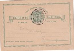 CAP VERT      ENTIER POSTAL/GANZSACHE/POSTAL STATIONERY CARTE DE SAO VICENTE - Cap Vert