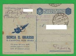 PM Franchigia Bersaglieri 18^ Compagnia Cremona Da Piacenza X Padova 1942 Cartoline Forze Armate - 1900-44 Vittorio Emanuele III
