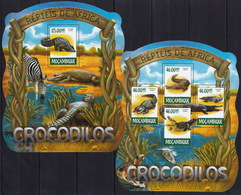Mozambique 2015 - Crocodiles - Reptiles - Stamps Perf. MNH** XF - Reptiles & Amphibians