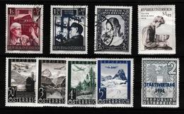AUTRICHE 1947-62: Petit Lot De Timbres,  Neufs Et Oblitérés, 2 SCANS, Petit Prix - 1945-.... 2ème République